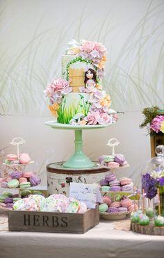 Pretty Magical Garden Birthday Cake