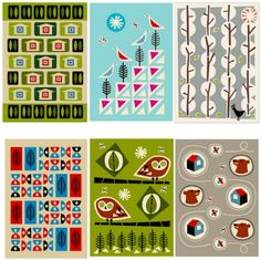 print & pattern if you love the retro patterns of the 50's and early 60's then these notebooks will certainly satisfy. reminiscent of the lucienne day style atomic age, but with a hint of scandinavian simplicity AJP have a great range of books and cards. good colour ideas too.