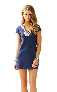 Lilly Pulitzer Brewster T-Shirt Dress in True Navy