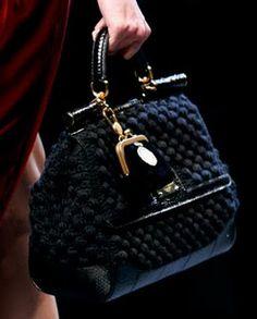 Dolce & Gabbana knitted bag.