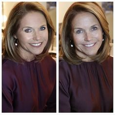 Katie Couric Goes Makeup-Free