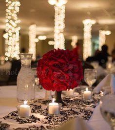 dollar store red pomanders :  wedding diy flowers reception Red Pomander