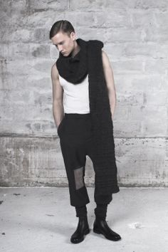 Menswear, inspired by glass. Designed by Liselotte Pedersen, www.byliselotte.dk. Photo: Josefine Amalie MUA: Dalia Jirko