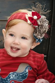 Persnickety Clothing - Peppermint Headband in Red Holiday