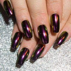 Chameleon Fake Nails Chrome Nails Mirror Press On Nails