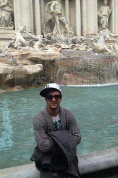 Piero Barone at the Trevi Fountain in Rome! IL VOLO Place NO WATERMARK on this photo.