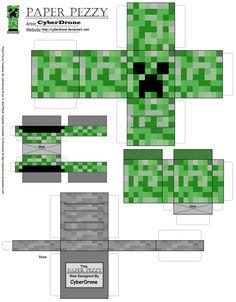 Paper Pezzy- Creeper 'Minecraft' by CyberDrone.deviantart.com on @deviantART