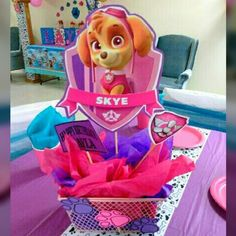 Paw patrol party for girls - Trend Today : Your source for the latest trends, exclusives & Inspirations Sky Paw Patrol, Paw Patrol Party, Kids Birthday Themes, 4th Birthday Parties, 3rd Birthday, Paw Patrol Birthday Theme, Birthdays, Milk Bottles, Myla