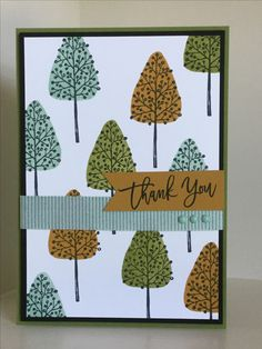 Totally Treesstamp set from the new Autumn-Winter catalogue, great for pattern building - created by Julia Jordan