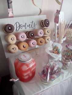 Wedding Candy Table, Candy Bar Party, Candy Bar Bautizo, Dulce Candy, Chanel Party, Girl Baby Shower Decorations, Donut Party, Baby Boy Shower, Birthday