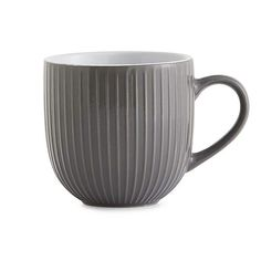 Made from durable stoneware, this charcoal grey Lyon mug is both dishwasher and microwave safe and features an intricate embossed texture and is available in a range of colours. Grey Mugs, Living Simple Life, Aubergine Colour, Air Force Blue, Cute Mugs, Dinner Sets, Charcoal Color, Lyon, Essen