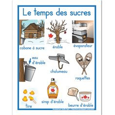 Fichier PDF téléchargeable En couleurs seulement Format: 8.5 X 11'' 1 page Winter Activities, Kindergarten Activities, Activities For Kids, Group Activities, French Teacher, Teaching French, Amelie Pepin, Core French, French Classroom