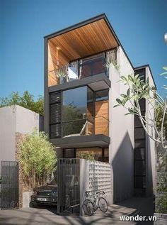 3 storied house plans modern 3 storey house plans three storey house design a three story modern architecture inspiration 3 2 story house plans with Residential Architecture, Contemporary Architecture, Interior Architecture, Modern Townhouse, Townhouse Designs, Narrow House, House Elevation, Facade House, Modern House Design