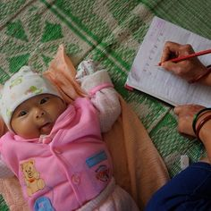 Mothers attending Child Survival Programs (CSP) in northern #India often come from backgrounds that precluded them from educational opportunities when they were children. Through the CSP they attend they get a second chance at an education that affords them the ability to learn basic #writing skills and learn simple calculations that can then be used to prevent their exploitation.