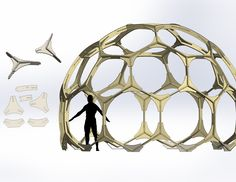 Dome Structure, Foam Armor, Model Supplies, Parametric Architecture, Sketchup Model, Dome House, Geodesic Dome, Plywood Furniture, House Design