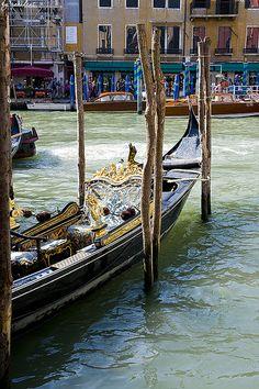 The Grand Canal & gondola ,Venice