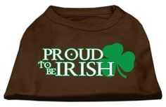 Mirage cat Products 20-Inch Proud To Be Irish Screen Print Shirt for cats, 3X-Large, Brown >>> Additional details found at the image link  : Cat Apparel