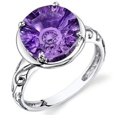 Peora.com - Amethyst Ring 14Kt White Gold 4.6 Cts R62016, $329.99 (http://www.peora.com/amethyst-ring-14kt-white-gold-4-6-cts-r62016/)