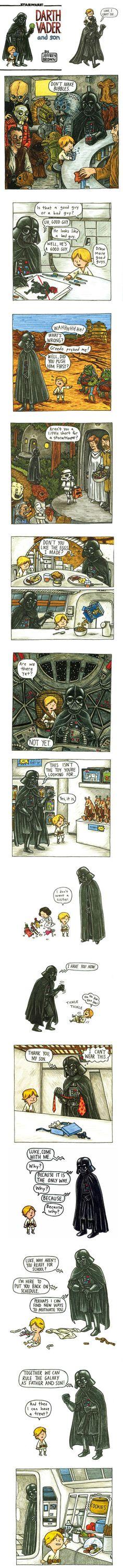 Darth Vader father & son.