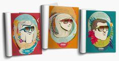 #evoke #ad #illustration #magazine #draw #vector #colorful #glasses #sunglasses #character #city #urban #beach #forest #jungle #sun #sunset