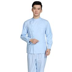 Hot Men Medical Scrub Sets Hospital Doctor Uniforms Dental Clinic Beauty Salon Long Sleeve Medical Workwear High Quality T333 #Affiliate