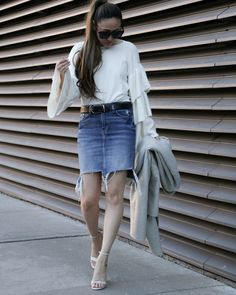 5 Ways To Wear a Denim Skirt This Spring | The Closet Heroes