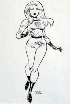 Sue Storm by Bruce Timm