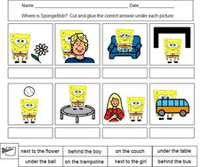 SpongeBob cut & paste prepositions