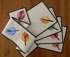 Leaf runner and placemats