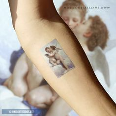 Bouguereau's First Kiss Temporary Tattoo (Set of - Artwork Tattoos - 21 Tattoo, Form Tattoo, Shape Tattoo, Tattoo Kits, Cover Tattoo, Tattoo Quotes, Baby Tattoos, Couple Tattoos, New Tattoos