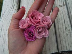 Rosas de la corona de papel otoño.  Plantilla (5) (700x525, 263Kb)