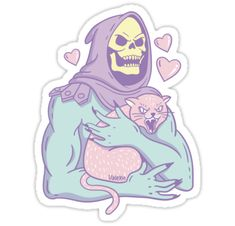 """""""Skeletor's Cat"""" Stickers by valexn 