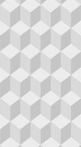 lé de papier peint graphique gris Théophile by lé papier de Ninon - made in france