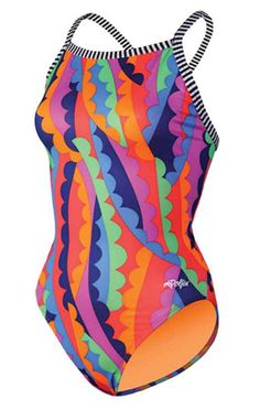 f8d99235325e4 Dolfin Uglies Koko Back Swimsuit. Fully Lined in Bright, Contrasting Colors.