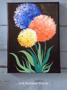 6 Super Easy Painting Art For Home Decor – Painting For Beginner Are you still spending lot of money to buy those artworks for home decor? In fact,you can totally make easy painting art by yourself. Diy Canvas Art, Canvas Artwork, Canvas Crafts, Art Abstrait, Acrylic Art, Acrylic Paint Colors, Acrylic Painting Canvas, Flower Canvas Paintings, Flowers On Canvas