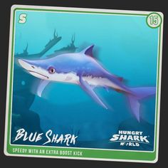 He's Blue, He's a shark. A lot of thought went into this name. Meet the Blue Shark.  Your #Sharkarium collection is nearly complete!