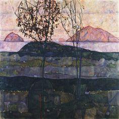 Setting Sun, 1913 - Egon Schiele