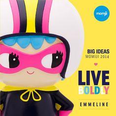 Our first BIG IDEAS Momiji. She's a mighty 17cm tall! Meet Emmeline. A reminder to LIVE BOLDLY and embrace ambition. https://lovemomiji.com/momiji-blog/momiji-hq/something-big./ #momiji #momijidolls #momijihq #emmeline #liveboldly