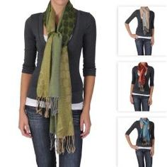 @Overstock - This fashionable lightweight shawl by Adi Designs features a mixed floral and bubble print design. Constructed of soft pashmina, this shawl is completed with small fringe details.http://www.overstock.com/Clothing-Shoes/Adi-Designs-Womens-Floral-and-Bubble-Print-Fringed-Scarf/6248337/product.html?CID=214117 $15.99