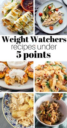 Weight Watchers Recipes Under 5 Points - from chicken to fish to shrimp to pasta to casseroles, there's a a low calorie recipe for everyone here!