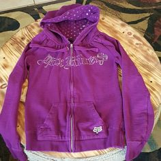 Juniors zip up hoodie Very good condition juniors fox riders Co zip up. No rips, stains or tears.  I had over 50 jackets at one point so some jackets hardly got worn. Fox Sweaters