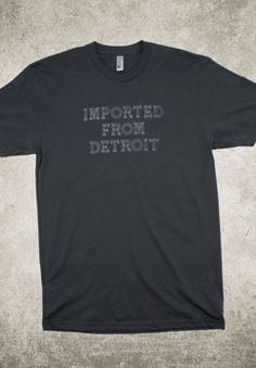 Imported From Detroit crew neck tee. Take 10% off using promo code PINIT4IFD016 (promo code is only available for the first 50 uses)