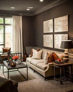 "Masculine Interiors. Great Masculine Interior Ideas. #Masculine #Interiors The trim is high gloss ""Graystone 1475 Benjamin Moore""."