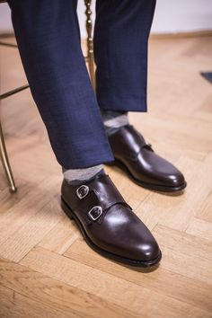 "Ludwig Reiter Men's Leather Shoes ""Double Monk Strap"", brown Gentleman Shoes, True Gentleman, Men's Leather, Leather Shoes, Double Monk Strap, Oxford Shoes, Dress Shoes, Mens Fashion, Brown"