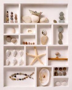 Beachy Shadow Box...  Google Image Result for http://3.bp.blogspot.com/_PoMRCnUCEhM/S4n2hKCrRZI/AAAAAAAAAv4/FunHurMiE7M/s400/shell-shadow-box-.jpg