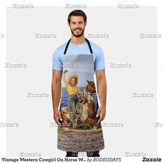 Aprons Vintage, Vintage Shops, Western Kitchen Decor, Blue Bonnets, Summer Bbq, Western Cowboy, Artwork Design, Westerns, Cool Designs