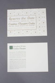 Casino Theatre Gala • Invitation Design on Behance