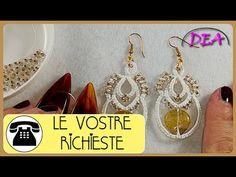 Chiacchierino a Navette -  Orecchini: Archi e Cerchi con perline a coppi...