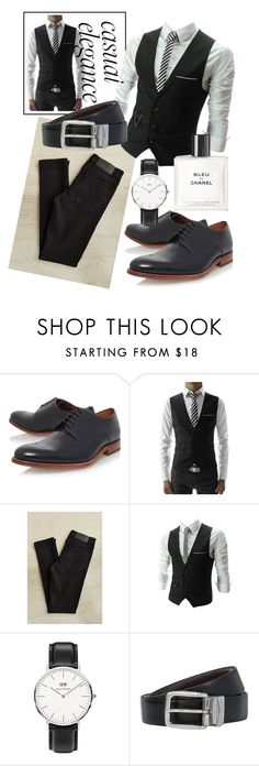 """Untitled #75"" by kerry-bradshow ❤ liked on Polyvore featuring Grenson, TheLees, Cheap Monday, Daniel Wellington, BOSS Hugo Boss, Chanel, mens, men, men's wear and mens wear"