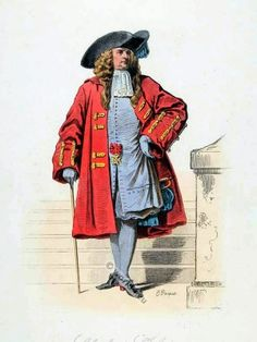 Prolly 1680 or later - vest Knight of St. Louis. French Baroque costume. 17th Century clothing. Louis XIV Ancien Régime fashion. Court Dress in Versailles